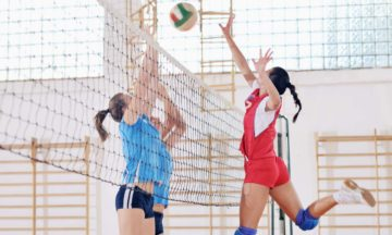 For women menstrual problems women playing volleyball
