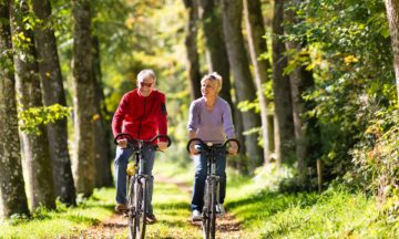 Other consultation services diabetes man and woman cycling